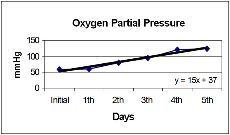 Figure 4. Oxygen partial pressure measurements